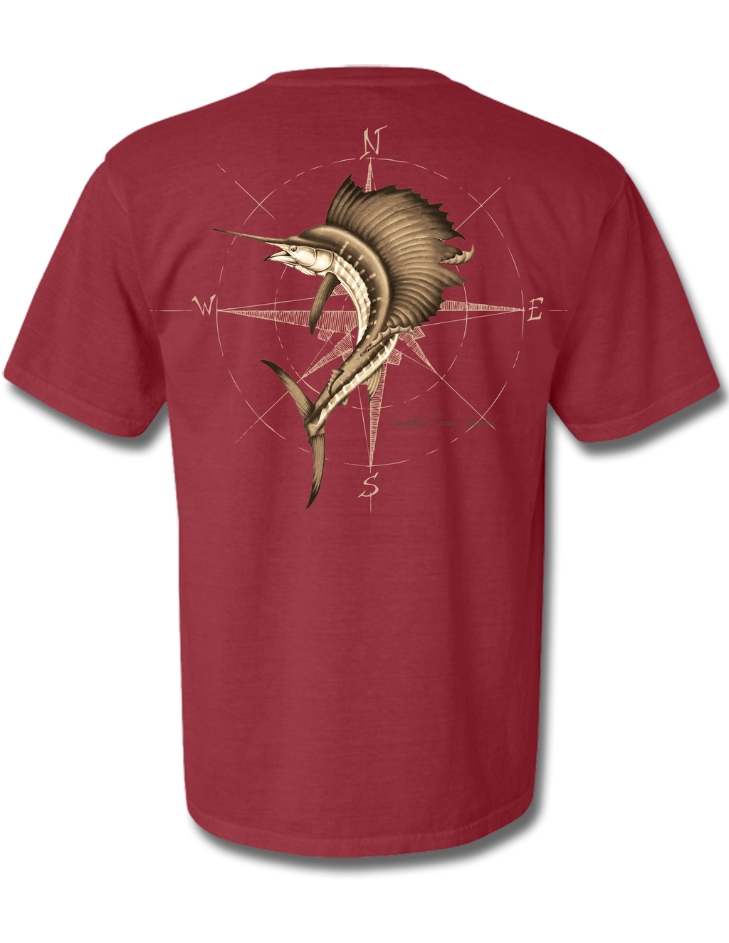 4 Winds Crimson Short Sleeve Small, T-Shirts - Southern Cross Apparel