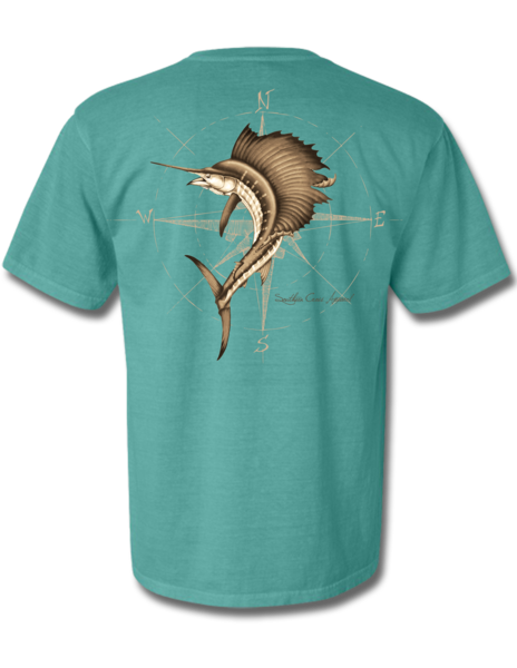 4 Winds Seafoam Short Sleeve Small, T-Shirts - Southern Cross Apparel