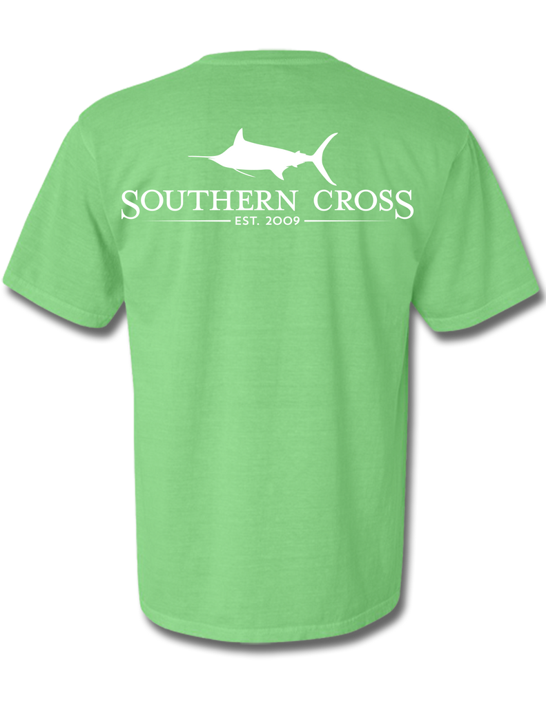 SCA Logo Short Sleeve With Pocket Neon Green Small