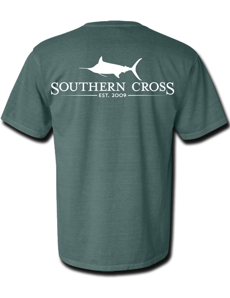 SCA Logo Blue Spruce Short Sleeve Small, T-Shirts - Southern Cross Apparel