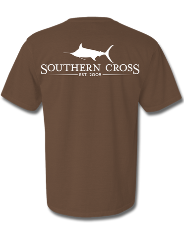 SCA Logo Brown Short Sleeve Small