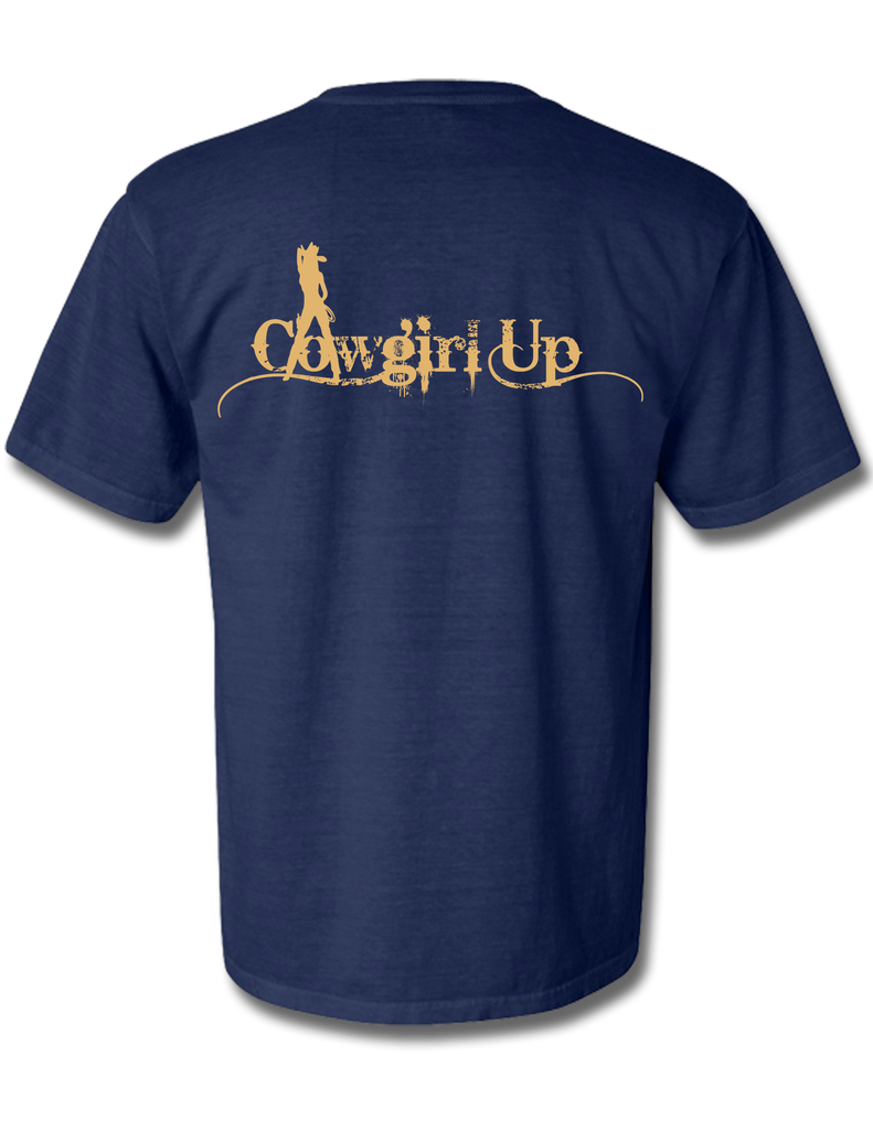 Cowgirl Up True Navy Short Sleeve Small, T-Shirts - Southern Cross Apparel