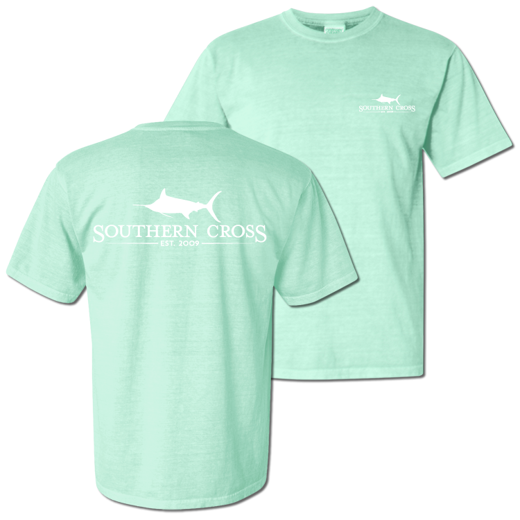 SCA Logo Chalky Mint Short Sleeve with pocket Small, T-Shirts - Southern Cross Apparel