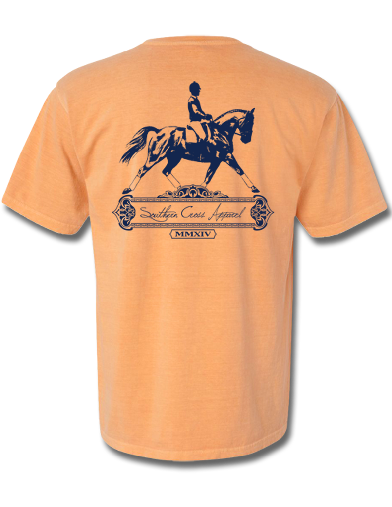 Dressage Melon Short Sleeve Small, T-Shirts - Southern Cross Apparel