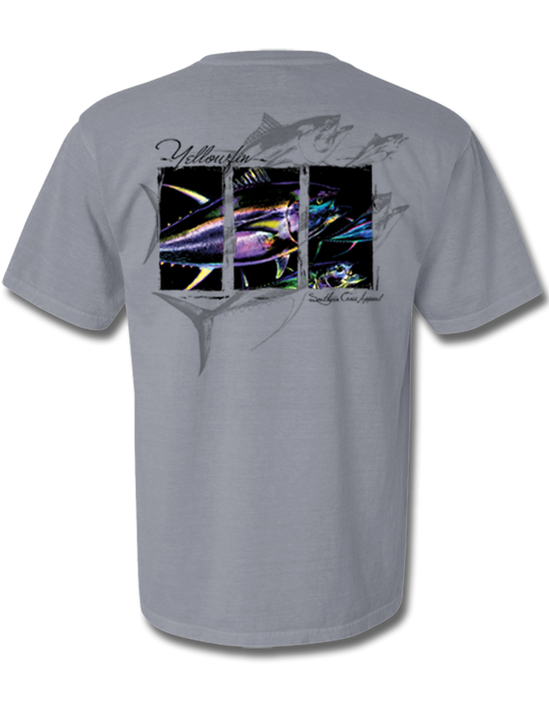 Yellowfin Short Sleeve with Pocket Ice Blue Small, T-Shirts - Southern Cross Apparel