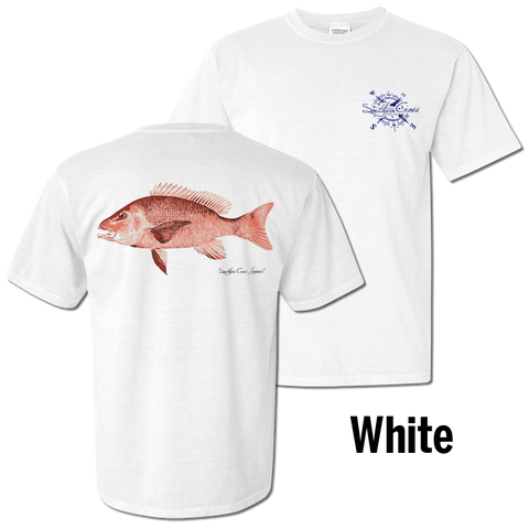 Red Snapper Short Sleeve White Small