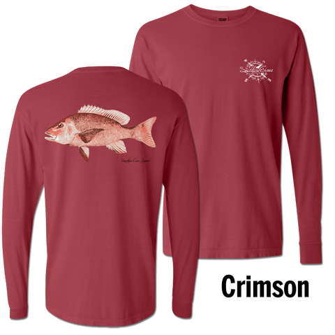 Red Snapper Long Sleeve Crimson Small