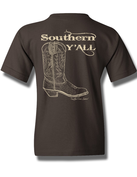 Southern Y'all Youth Short Sleeve Chocolate S