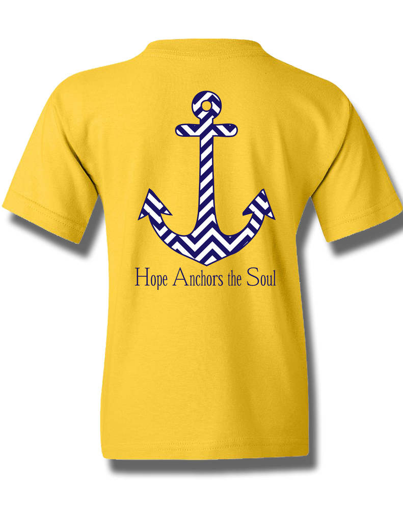 Chevron Hope Anchors Daisy Youth Short Sleeve XS, T-Shirt - Southern Cross Apparel