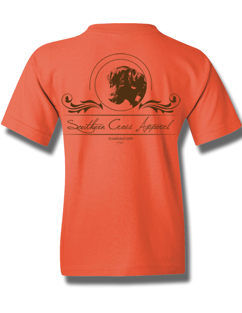 Faith Oval Coral Silk Youth Short Sleeve S, T-Shirt - Southern Cross Apparel