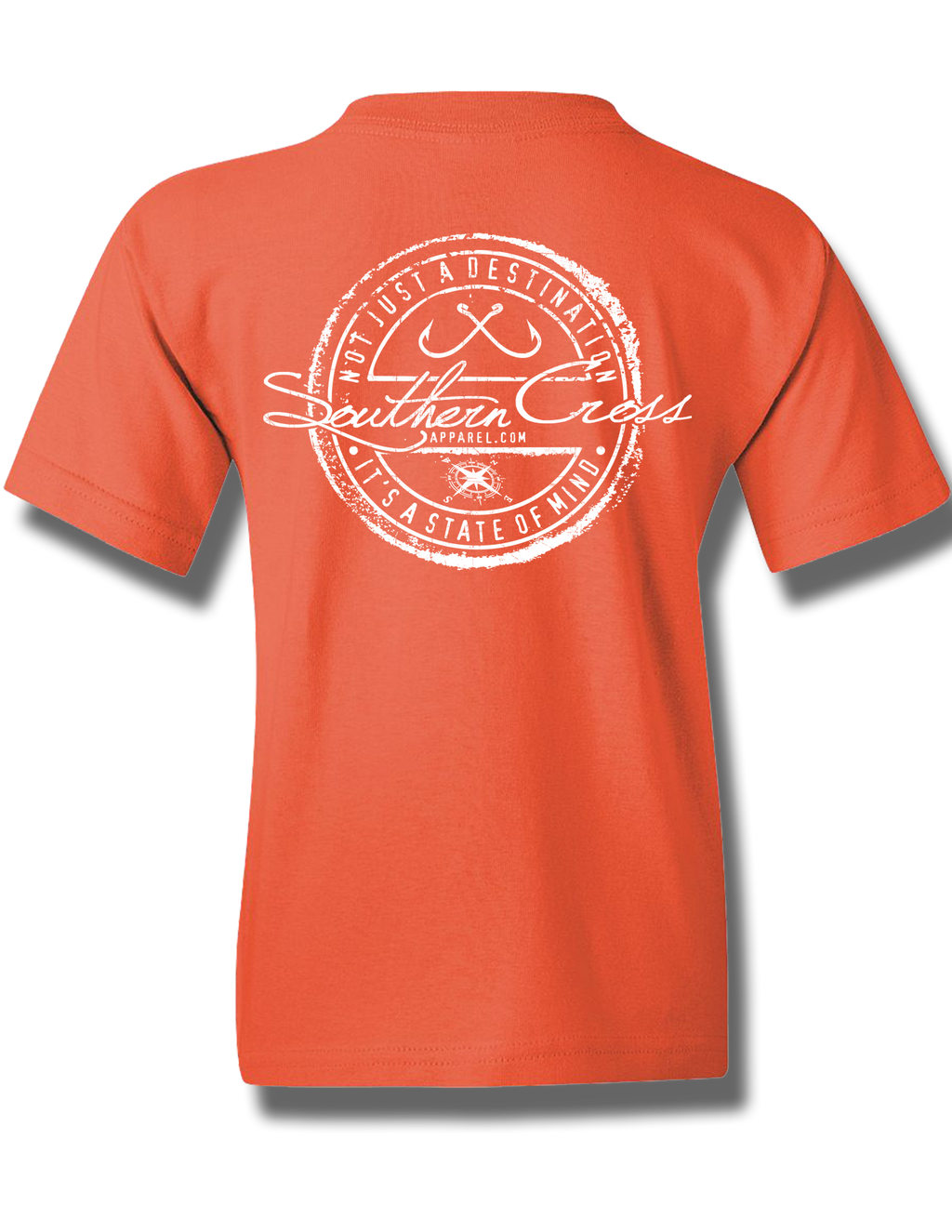 Fishing Stamp Coral Silk Youth Short Sleeve XS, T-Shirt - Southern Cross Apparel