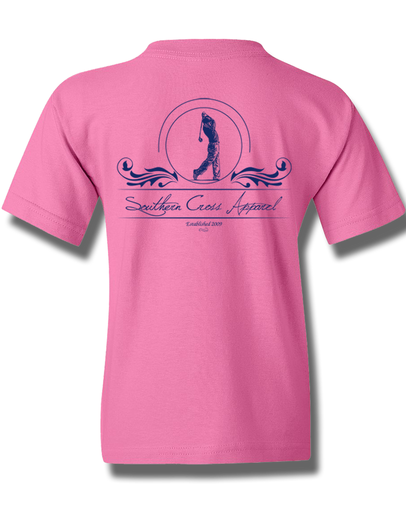 Golfer Azalea Youth Short Sleeve M, T-Shirts - Southern Cross Apparel