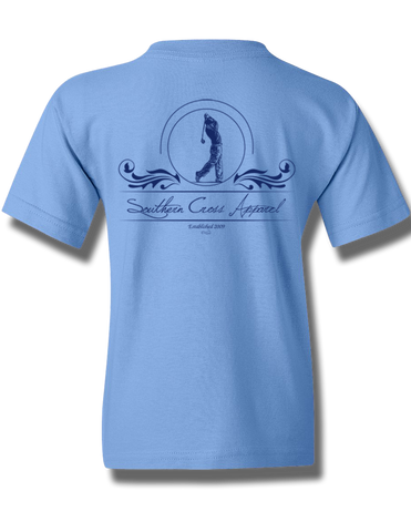 Golfer Carolina Blue Youth Short Sleeve M