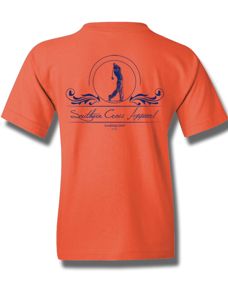 Golfer Coral Silk Youth Short Sleeve M, T-Shirts - Southern Cross Apparel