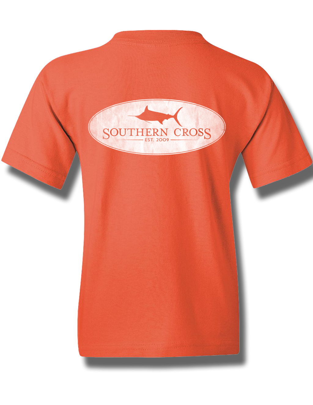 Marlin Oval Coral Silk Youth Short Sleeve S, T-Shirts - Southern Cross Apparel