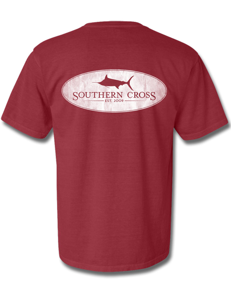 Marlin Oval Crimson Youth Short Sleeve XS, T-Shirts - Southern Cross Apparel