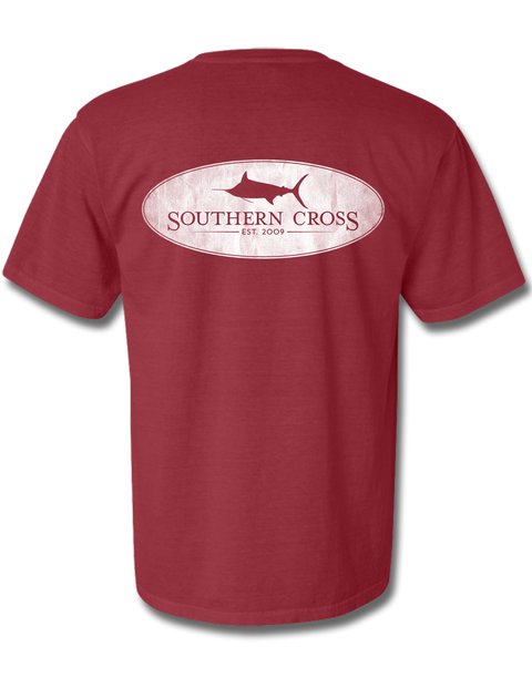 Marlin Oval Crimson Youth Short Sleeve M, T-Shirts - Southern Cross Apparel