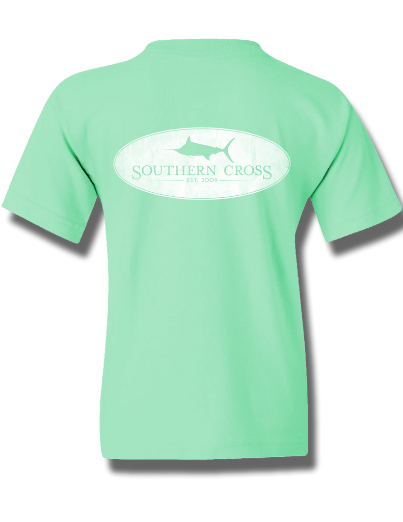 Marlin Oval Mint Youth Short Sleeve XS, T-Shirts - Southern Cross Apparel