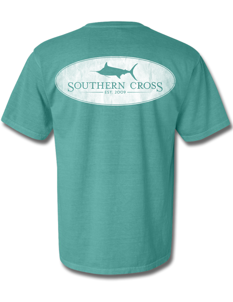 Marlin Oval Seafoam Youth Short Sleeve L, T-Shirts - Southern Cross Apparel