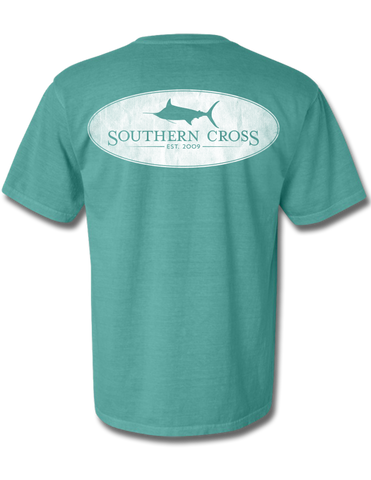 Marlin Oval Seafoam Youth Short Sleeve L