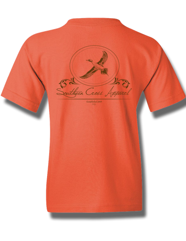 Pintail Oval Coral Silk Youth Short Sleeve L