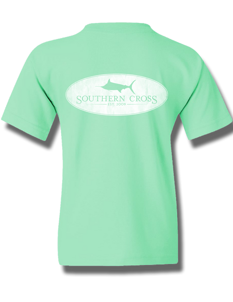 Marlin Oval Mint Youth Short Sleeve M, T-Shirts - Southern Cross Apparel