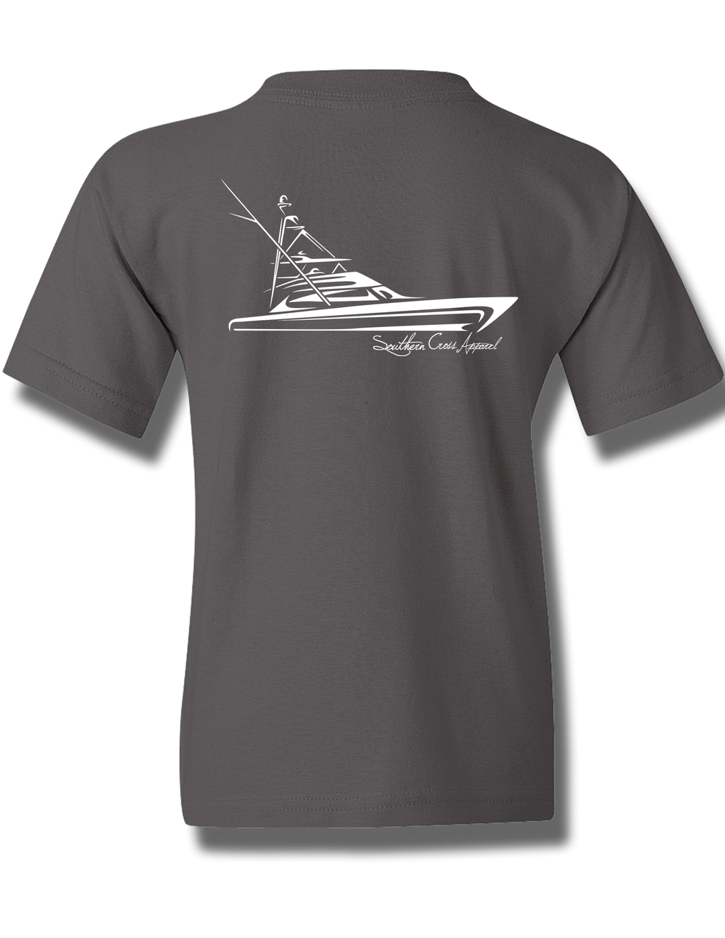 Tribal Sportfisher Charcoal Youth Short Sleeve M, T-Shirts - Southern Cross Apparel