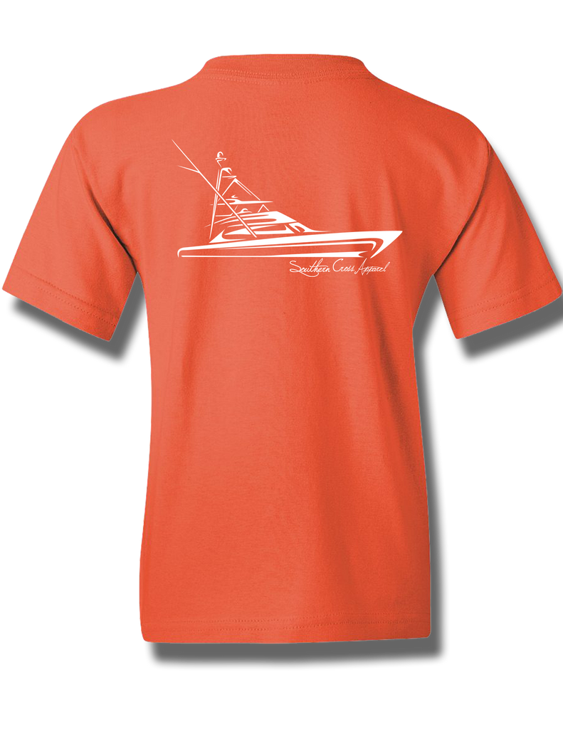 Tribal Sportfisher Coral Silk Youth Short Sleeve L, T-Shirts - Southern Cross Apparel