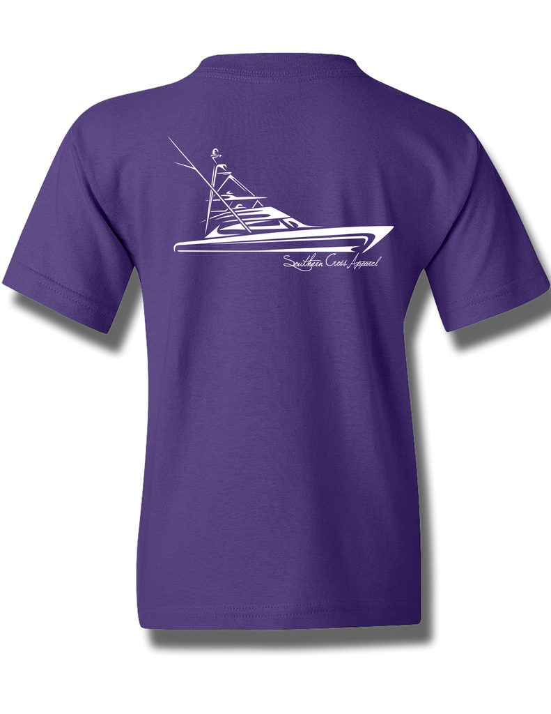 Tribal Sportfisher Purple Youth Short Sleeve XS, T-Shirts - Southern Cross Apparel
