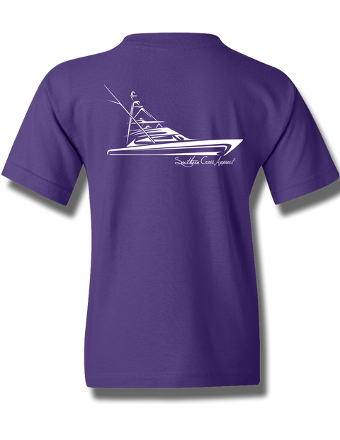 Tribal Sportfisher Purple Youth Short Sleeve XS