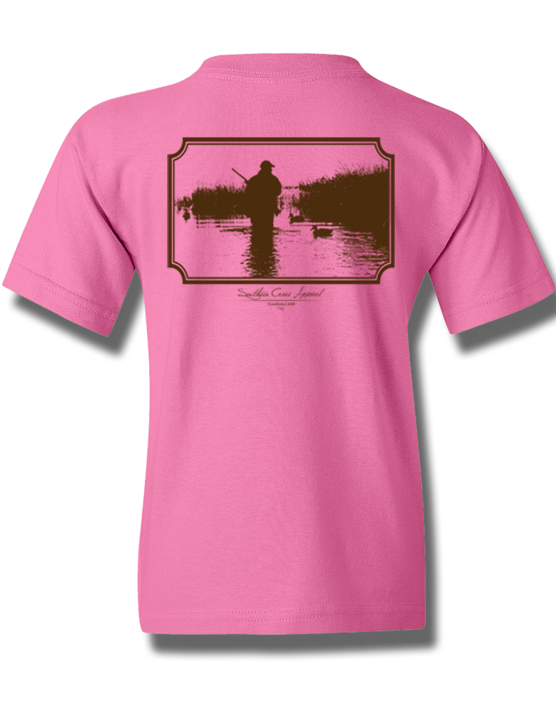 Wading Duck Hunter Azalea Youth Short Sleeve S, T-Shirts - Southern Cross Apparel