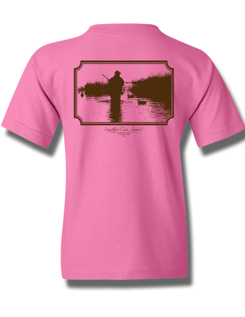 Wading Duck Hunter Azalea Youth Short Sleeve M, T-Shirts - Southern Cross Apparel