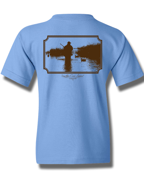 Wading Duck Hunter Carolina Blue Youth Short Sleeve M, T-Shirts - Southern Cross Apparel