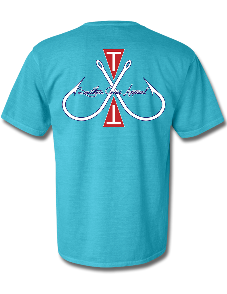 Tag and Release Short Sleeve Lagoon Blue Small, T-Shirts - Southern Cross Apparel