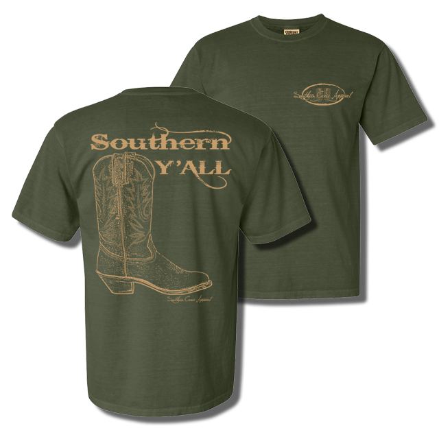 Southern Y'all Short Sleeve with Pocket Hemp Small, T-Shirts - Southern Cross Apparel