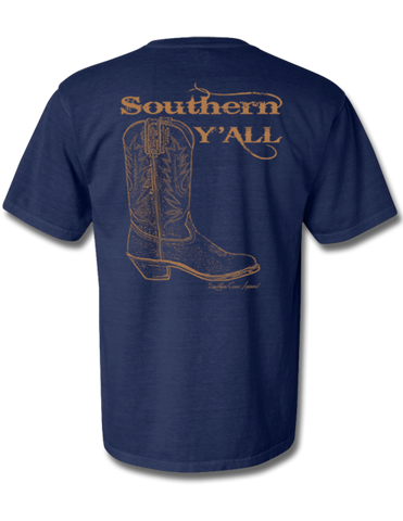 Southern Y'all Short Sleeve with Pocket Denim X-Large