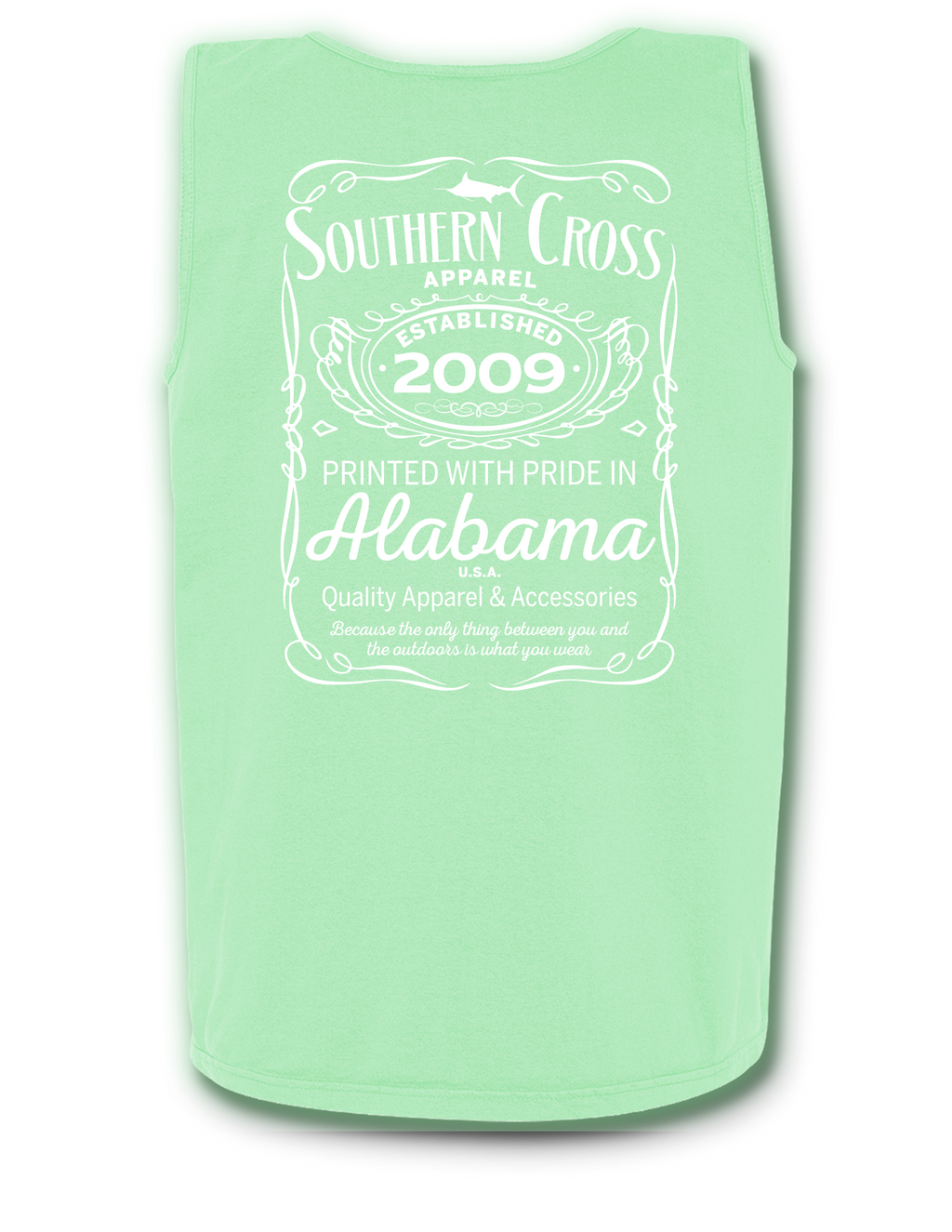 Whiskey Label Tank Top Island Reef Small, Tank Top - Southern Cross Apparel