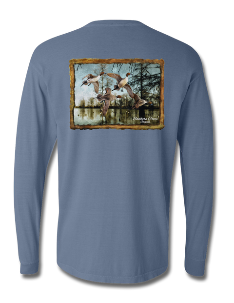 Pintail Bayou Long Sleeve, T-Shirts - Southern Cross Apparel