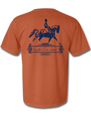 Dressage Short Sleeve Burnt Orange Small