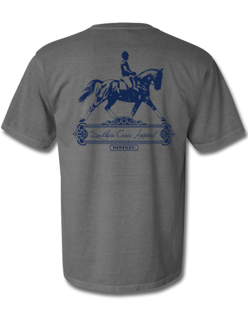 Dressage Chrome Short Sleeve Small, T-Shirts - Southern Cross Apparel