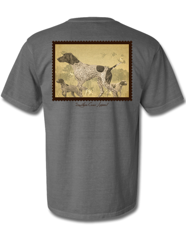Quail Stamp Short Sleeve Grey Small