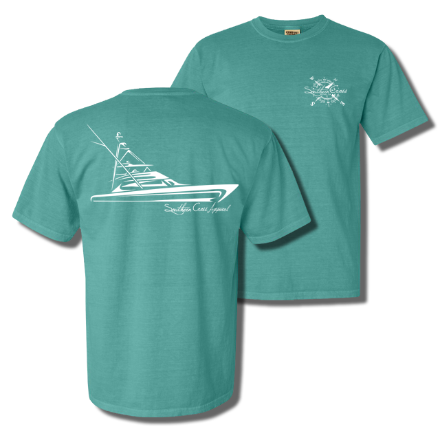 Tribal Sportfisher Short Sleeve Seafoam Small, T-Shirts - Southern Cross Apparel