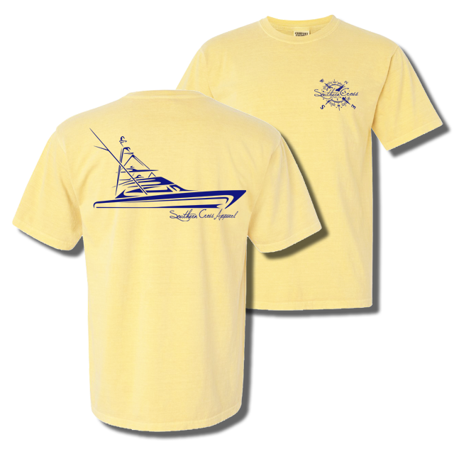 Tribal Sportfisher Short Sleeve Butter Small, T-Shirts - Southern Cross Apparel
