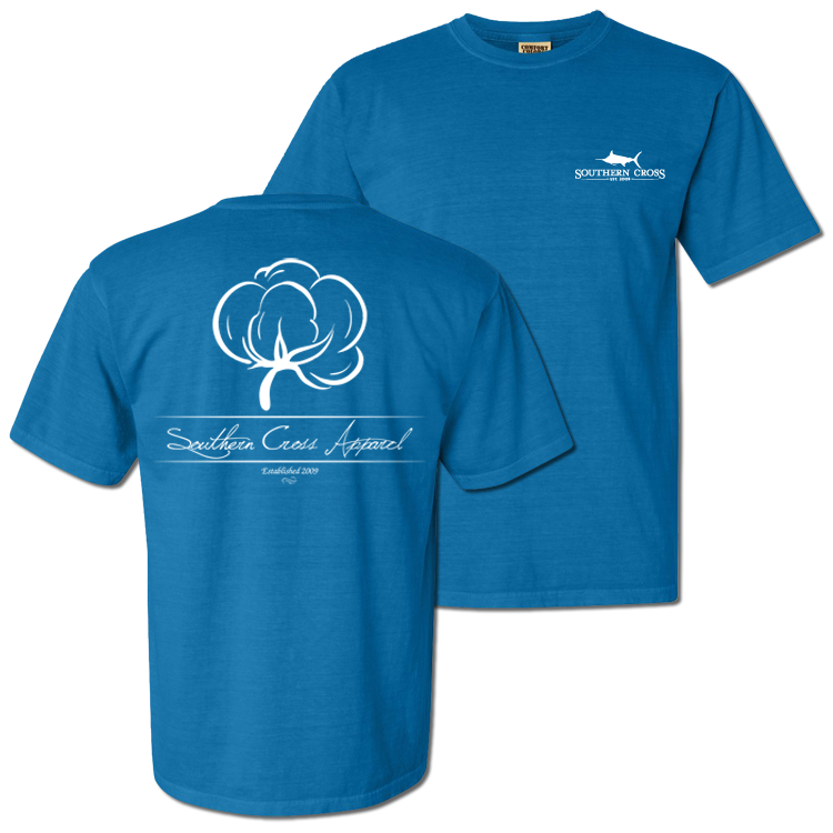 Cotton Boll Short Sleeve Youth Royal Small, T-Shirts - Southern Cross Apparel