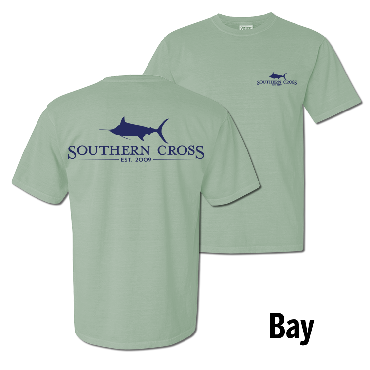 SCA Logo Bay with Navy Short Sleeve w/ Pocket Small, T-Shirts - Southern Cross Apparel