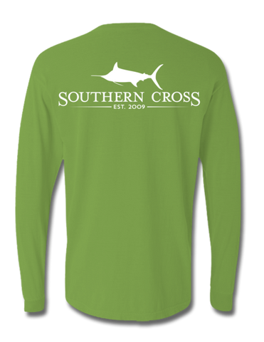 SCA Logo with White Print Long Sleeve Kiwi 2XL