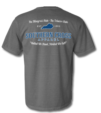 Kentucky Proudly Stated Short Sleeve Grey Small