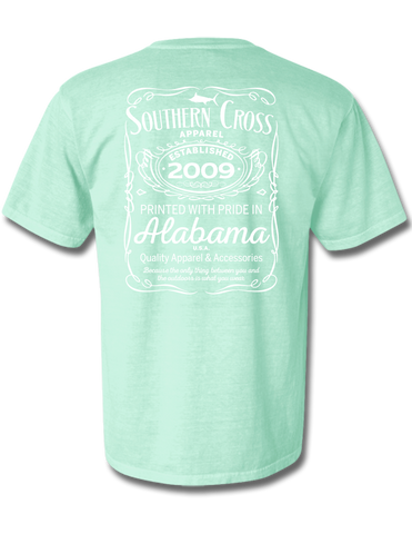 Whiskey Label Short Sleeve Chalky Mint Small