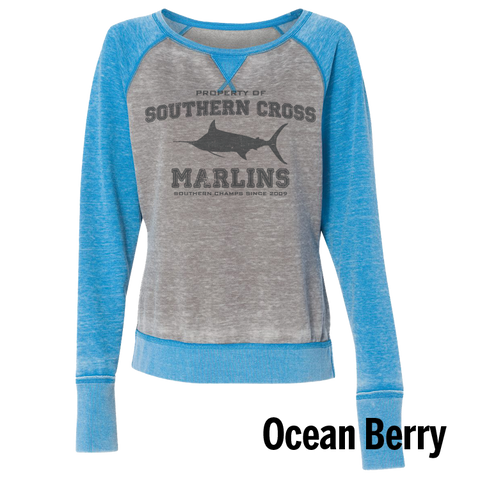 Go Marlins Raglan Ladies Sweatshirt