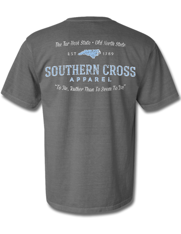 North Carolina Proudly Stated Short Sleeve Grey Medium